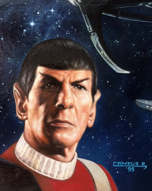 Painting - Star Trek Cross Over Detail Spock