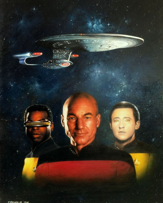 Oil Paintinig - Star Trek 1995 Cover Full