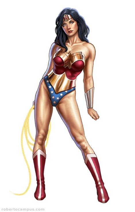 Photoshop Tutorial Wonder Woman - Step 6 : Painting Details